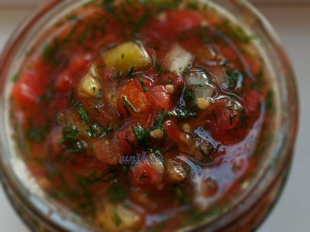 приправа на зиму из овощей с солью