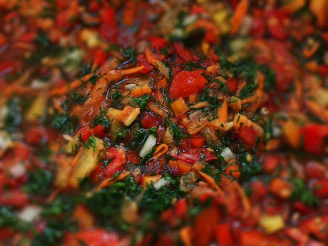 заправка из овощей на зиму с солью