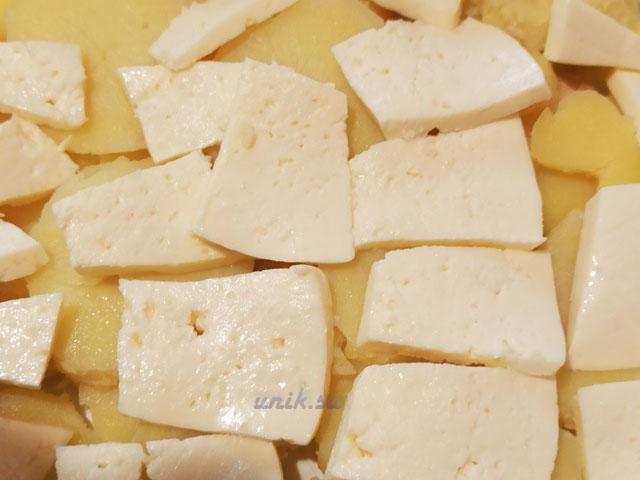 картофель с брынзой